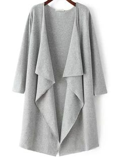 Cheap cardigan women, Buy Quality cardigan pink directly from China cardigan clothing Suppliers: CHOIES Women 3 Colors Long Sleeve Lapel Knitted Wear 2016 Fall Winter Simple Streetwear Loose Casual Cardigan Sweater Long Grey Cardigan, Loose Sweater, Sweater Coats, Cardigans For Women, Cardigan En Maille, Loose Fitting Tops, Loose Tops, Cut Loose, Designer Shoes