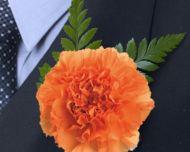 Classic Orange Carnation Boutonniere $1.99