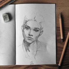 "(@miro_z_art) ""Sketchbook  #face #portrait #sketch #sketching #sketchbook #paper #pencil #draw #drawing #art…"""