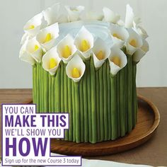 Learn how to make Calla Lilies in Course 3: Fondant and Gum Paste. by cristina