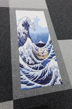 Japanese  fabric Tenugui Maneki Neko Cats in by japanmomijidesigns, $19.50