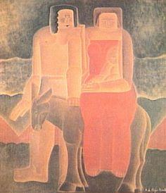 Fuga para o Egito 1923 | Vicente do Rego Monteiro óleo sobre tela, c.i.d. 90.00 x 80.00 cm Coleção Sergio Sahione Fadel