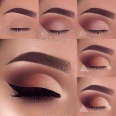 Makeup for beginners eyeshadow step by step 68 ideas - Eye makeup . - Makeup for beginners eyeshadow step by step 68 ideas – Eye makeup – - Makeup Eye Looks, Eye Makeup Steps, Smokey Eye Makeup, Eyeshadow Looks, Eyeshadow Makeup, Eyeshadow Ideas, Hair Makeup, Eyeshadow Tutorials, Makeup Eyebrows