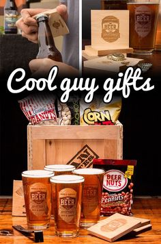 Beer glasses with his name on them! A gift he'll love this V-Day! #mancrates