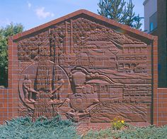 Brick mural in Bend, OR -- by Mara Smith and Kris King