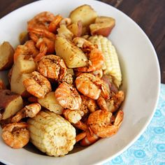 Lowcountry boil, a Southern classic, great for large groups of friends.