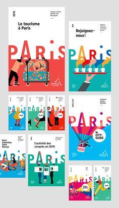 Paris Convention and Visitors Bureau - Brand design on Behance..