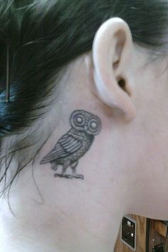 Athenian owl....I wouldn't put it in that location, but I love the design.