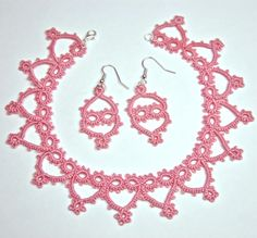Tatted Princess Necklace and Earring Set - Pattern
