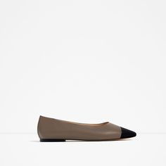 Image 2 of TWO-TONE LEATHER BALLET FLATS from Zara