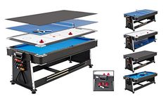 Mightymast Revolver Multi Games Table: Air Hockey, Pool and Table Tennis!