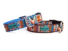 """Southwest Sunset Dog Collar   3/4"""" or 1"""" Collar for Small to Large Dogs"""