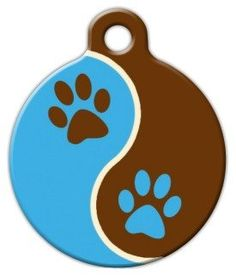 Lupine Pattern Muddy Paws  Custom Pet ID Tag for Dogs and Cats  Dog Tag Art  LARGE SIZE * Click image to review more details. (Note:Amazon affiliate link)