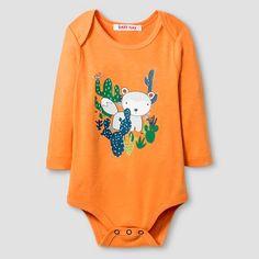 Baby Nay® Baby Boys' Campfire Friends Bodysuit - Orange : Target