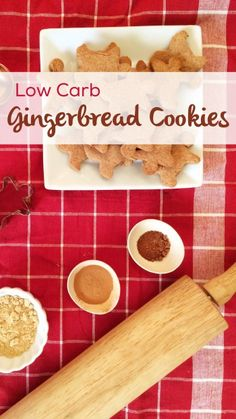 Low Carb Gingerbread Cookies | a simple and delicious low carb, sugar free and keto and LCHF-friendly Christmas holiday cookie!