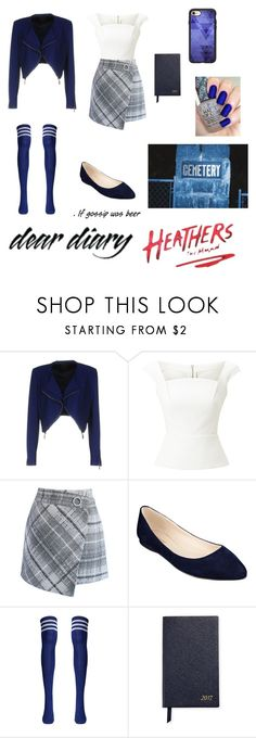 """""""Modern veronica Sawyer ~heathers the musical~"""" by the-blueglasses ❤ liked on Polyvore featuring Pinko, Roland Mouret, Chicwish, Nine West, Smythson, Casetify, OPI and modern"""