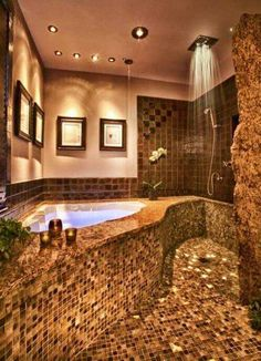 Looking for your Dream Bathroom Design? See our full photo gallery of Top 20 Luxurious Dream Bathrooms Design Ideas for your bathroom makeover. Dream Bathrooms, Dream Rooms, Beautiful Bathrooms, Small Bathroom, Design Bathroom, Bathroom Interior, Relaxing Bathroom, Mosaic Bathroom, Luxury Bathrooms