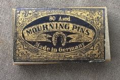Victorian Box of Mourning Pins German Black Heads Interesting No Reserve | eBay