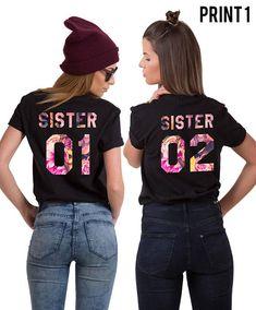 Sister 01 Sister 02 Shirts Sister Shirts Sister Gift Gift