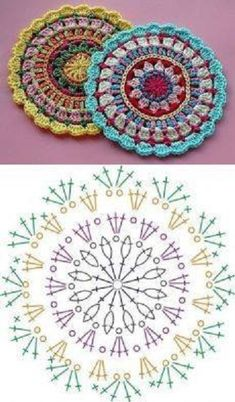 Transcendent Crochet a Solid Granny Square Ideas. Inconceivable Crochet a Solid Granny Square Ideas. Motif Mandala Crochet, Crochet Doily Diagram, Crochet Square Patterns, Doily Patterns, Crochet Chart, Crochet Squares, Crochet Doilies, Crochet Flowers, Crochet Stitches