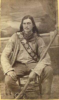 "This is a photo of the famous, ""Yellowstone Kelly"" who was an Indian Scout. His real name was Luther Kelly, but scouts were given flamboyant names, thus ""Yellowstone Kelly"" was born."