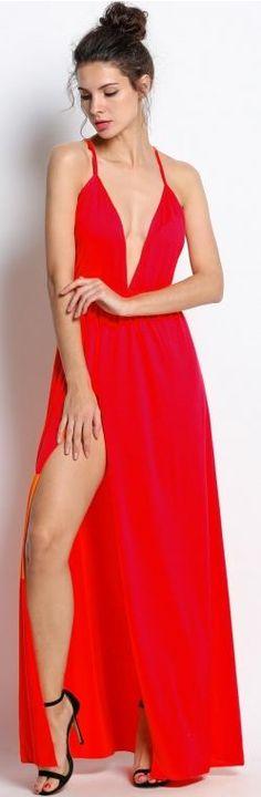Fire-starter Maxi Dress - Red