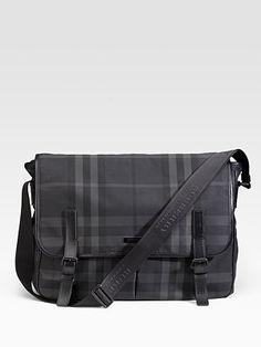 Burberry men's nylon messenger bag $795