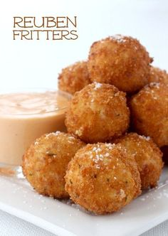 These Reuben Fritters are another tasty way to turn leftovers into party food...and if you don't have leftovers just grab some corned beef from the deli!