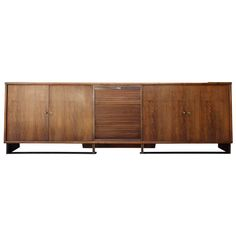 View this item and discover similar for sale at - A substantial Paul Dupré-Lafon cabinet constructed in walnut, nickel and iron. Features a drop-down tambour door concealing a suede lined fitted interior Bedroom Reading Nooks, Travertine Coffee Table, Cabinets For Sale, Sideboard Buffet, Tambour, The Hamptons, Home Furniture, Iron, Interior Design