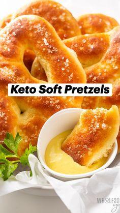 Ketogenic Recipes, Paleo Recipes, Ketogenic Diet, Low Carb Recipes, Cooking Recipes, Keto Snacks, Healthy Snacks, Soft Pretzels, Keto Bread