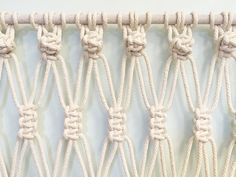 Detail shot - Macrame wall hanging - large scale perfect for headboard, wall or wedding decor by Amy Zwikel Studio