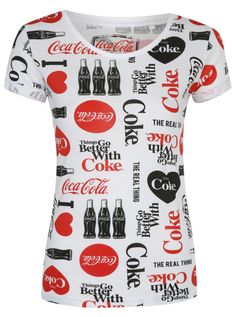 Love Coca Cola Tee Shirt                                                       …