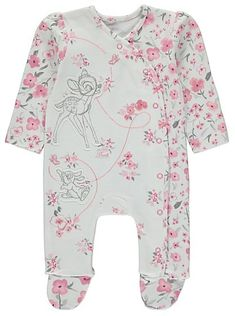 Disney Bambi Floral Sleepsuit, read reviews and buy online at George at ASDA. Shop from our latest range in Baby. They'll soon be dreaming of Disney in this ...
