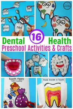 Preschool Dental Health Join our Email Group for Ideas, Freebies & Special Offers.Do you a Preschool Dental Health theme? This set is filled with fun hands on activ Health Lesson Plans, Health Lessons, Dental Health Month, Oral Health, Health Unit, Health Activities, Health Education, Science Education, Health Literacy