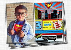 Super Hero Invitation - Photo - Printable