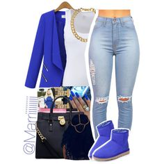 A fashion look from December 2014 featuring Casall, UGG Australia ankle booties and MICHAEL Michael Kors tote bags. Browse and shop related looks.