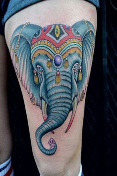 Circus Elephant Tattoo Images & Pictures - Becuo Circus Elephant Tattoos, Circus Elephants, Headdress Tattoo, Vintage Circus, Tattoo Images, Pictures, Baby Shower, Amp, Ideas