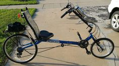 e-bikekit on recumbent bicycle