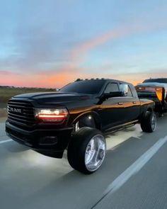 All Black Spec'd Dodge Ram With Trailer