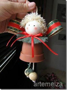 Elf Clay Pot Ornament Tutorial
