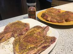 We tried lathering on the mustard before our Grillers Choice. Great combo for the grill! Side Recipes, Veggie Dishes, Sprouts, Mustard, Seafood, Steak, Pork, Grilling Ideas, Stuffed Peppers