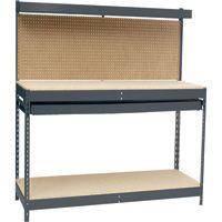 Edsal Maxi-Rack 48in. Workbench — 48in.W x 24in.D x 60in.H, Model# MRWB-4