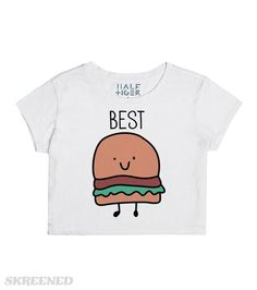Best Friends Burger and Fries | What goes together better than a burger and fries?! Uh, nothing! Except for you and your BFF, of course! These best friend shirts are for besties who love food...and each other! Get the matching crop top here: http://skreened.com/sparklepizza/best-friends-burgers-and-fries #Skreened