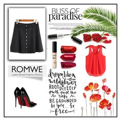 """""""ROMWE"""" by sabine-rose ❤ liked on Polyvore featuring Christian Louboutin and WALL"""