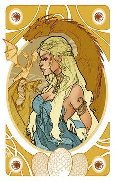 Game of Thrones' cards | Daenerys Targaryen by SimonaBonafiniDA.deviantart.com on @deviantART