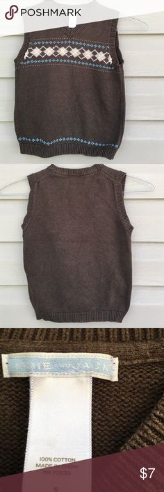 Janie and Jack boys sweater vest Cute boys knit vest 100% cotton no snags or holes Janie and Jack Shirts & Tops Sweaters