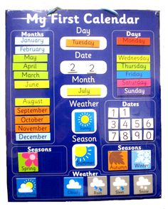 NEW Educational Magnetic Childrens My First Calendar & Weather Chart Classroom Charts, Classroom Calendar, Kids Calendar, Magnetic Calendar, School Calendar, Weather Activities, Kids Learning Activities, Learning Toys, August Weather