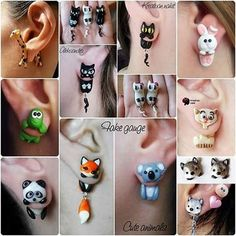 55 Likes, 6 Comments - 🎁Figures, Keychains & Jewelry ( on Ins. Cute Polymer Clay, Polymer Clay Animals, Cute Clay, Fimo Clay, Polymer Clay Projects, Polymer Clay Charms, Polymer Clay Earrings, Clay Crafts, Cute Stud Earrings