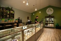 Merchandise Display Cases for Medical Marijuana Dispensaries and Cannabis Stores Retail Display Cases, Window Display Retail, Store Displays, Retail Displays, Window Displays, Vape Store Design, Retail Store Design, Hookah Lounge, Cannabis Shop