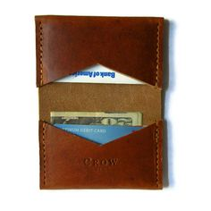 leather goods crafted by hand in slc by CrowSLC on Etsy